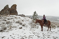 Shawn on The Snowy Trail Ride