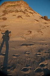 Photographer Shawn Hamilton Self Silhouette Portrait on Sable Island