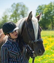 Rocky Mountain Horse with Owner, Bonnie View Farms Tribute Kidd