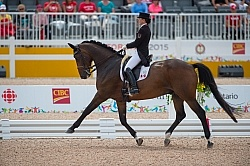Belinda Trussell and Anton Pan Am Dressage GP FS 2015