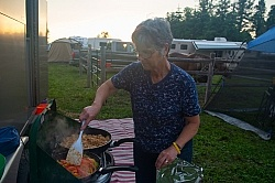 Cooking Dinner at Horse Country Campground