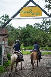Ali and Heather Riding at Hacienda La Alegria