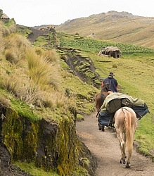 Riding in the high Andes
