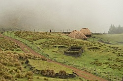 A typical farmstead in the high Andes