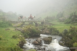 River Crossing in the high Andes