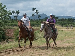 On the Trail at Finca La Guabina Havana