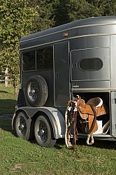 Horse Trailer at Horse Country Campground