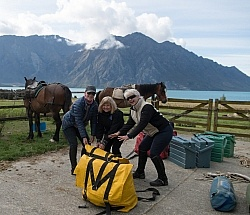 Helping to Pack For The Ride to Boundary Hut From Hunter Valley Station