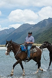 John on the Day Ride From Boundary Hut, Wild Womens Expeditions with Adventure Horse Trekking New Zealand