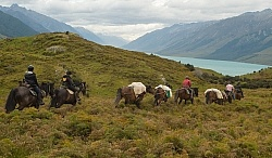 The Ride Out of Dingleburn Station on the Land of the Long White Cloud Ride with Wild Womens Expeditions and Adventure Horse Trekking New Zealand