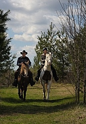 Trail Riding Couple
