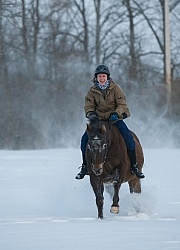 Youth Riding in Winter