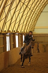 Riding in Indoor Arena
