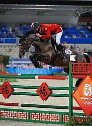 Mac Cone and Ole competing in the Hong Kong Olympics