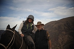 Shawn and Husband Joe  on the Salta, Argentina ride with Pioneros.