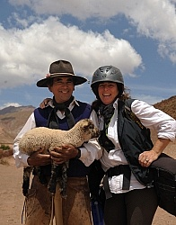 Shawn with a Gaucho on the Salta Trip in Argentina with Pioneros