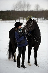 Winter Horse and Human Bond