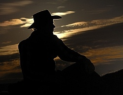 Cowboy Silhouette at Hideout Ranch