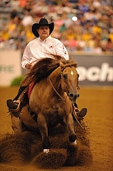 Duane Latimer and Dun Playin Tag Reining WEG 2010