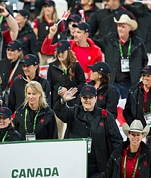 Team Canada in the Opening Ceremonies WEG 2014 Normandy