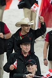 Canadians at Opening Ceremonies WEG 2014 Normandy