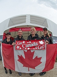 Canadian Dressage Team Belinda Trussell, David Marcus, Karen Pavicic, Megan Lane