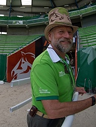 Pedro, infamous ring master at WEG 2014 Normandy