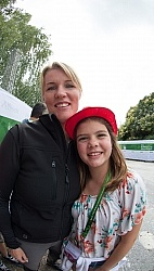 Karen Pavicic and Family support at WEG 2014 Normandy, France
