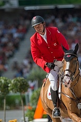Yann Candele and Showgirl WEG 2014 Normandy, France
