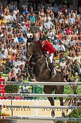 Eric Lamaze and Zigali P S WEG 2014 Normandy, France