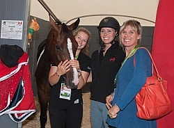 Caravella with Kelsey Megan and Cathy Lane WEG 2014 Normandy