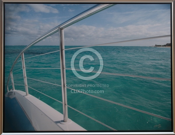Port Side 28 x 36.5 Canvas Wrap Silver Frame LE to 40   850.00