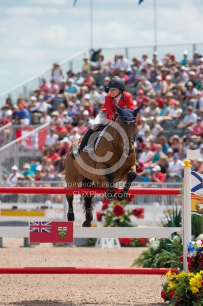 Georgina Bloomberg and Lilli Pan Ams Toronto 2015