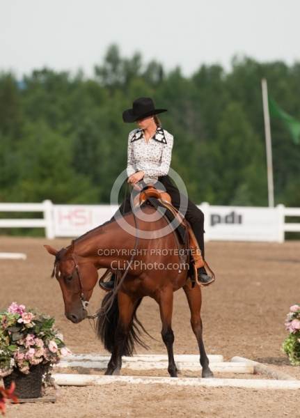 Kid in Western Trail Class at QH Show