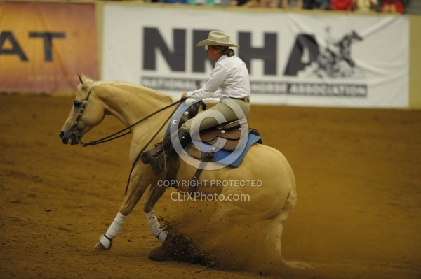 Karen O Connor and Chevy Dun It  Ariat Kentucky Reining Cup