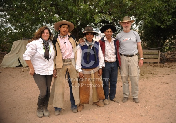 Shawn and Husband Joe with Argentinean Gauchos