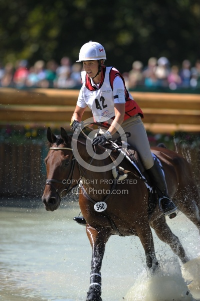 Rebecca Howard and Riddle Master WEG 2010