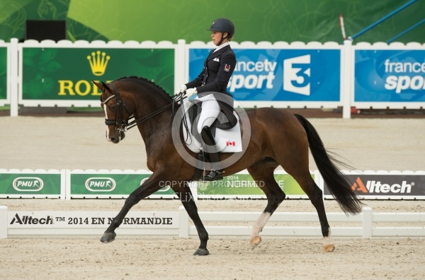 Megan Lane and Caravella in the Team Grand Prix WEG 2014 Normand