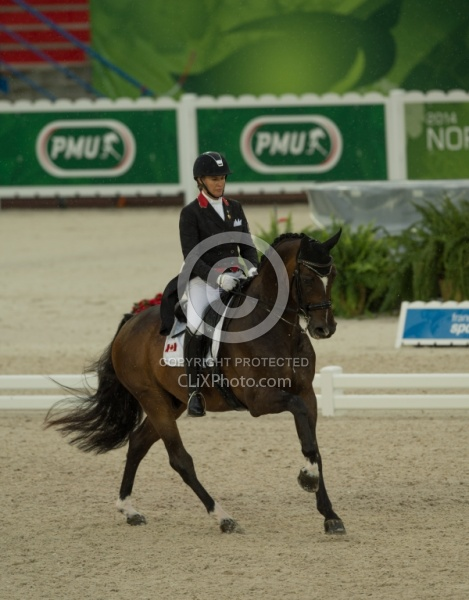 Karen Pavicic and Don Dacquiri Team Grand Prix WEG 2014 Normandy